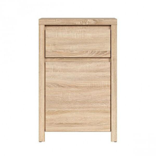Шкаф за антре в дървесен цвят Каспиан Дъб - отпред