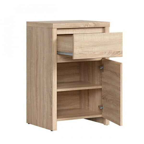 Шкаф за антре в дървесен цвят Каспиан Дъб - разпределение