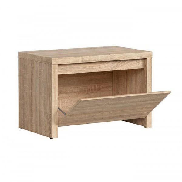 Шкафче за обувки в дървесен цвят Каспиан Дъб - разпределение