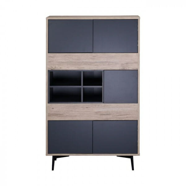 Шкаф с 4 рафта и 5 вратички серия Гросо