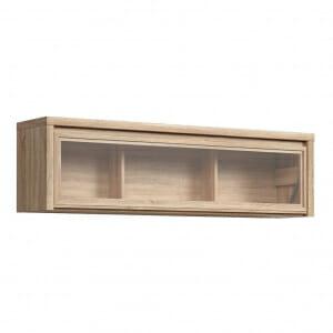Стенен шкаф витрина в дървесен цвят Каспиан Дъб