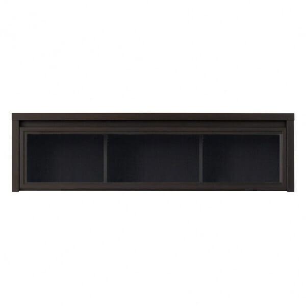 Стенен шкаф витрина в тъмен цвят Каспиан Венге