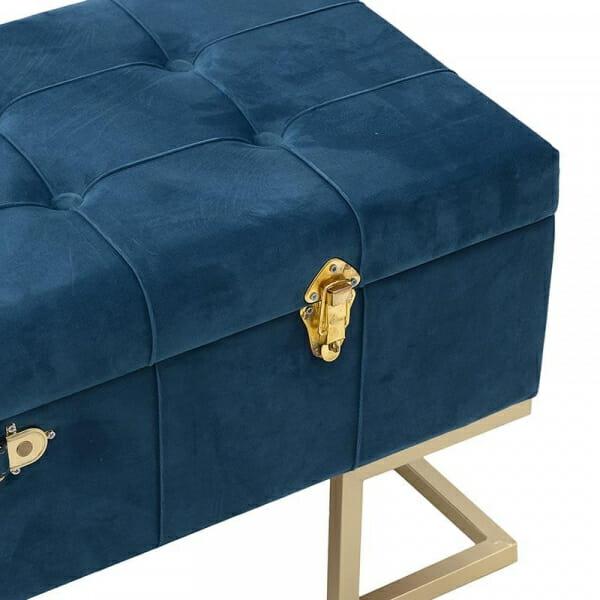 Табуретка под формата на куфар с място за съхранение-отделение за багаж-детайли