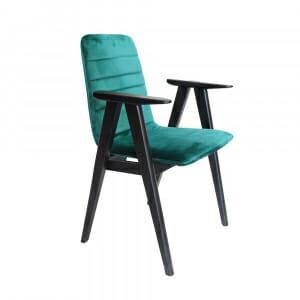 Трапезен стол от бук с нестандартни подлакътници-Вариант 1