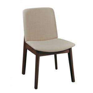 Трапезен стол с дървени крака от бук-бежов