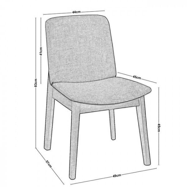Трапезен стол с дървени крака от бук-размери