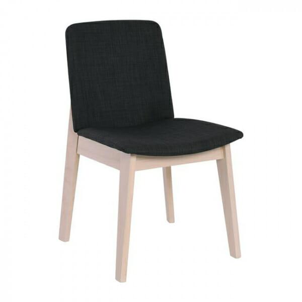 Трапезен стол с дървени крака от бук-тъмносив