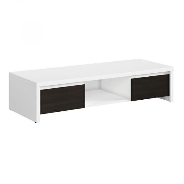 ТВ шкаф с бял корпус и чекмеджета венге Каспиан Венге