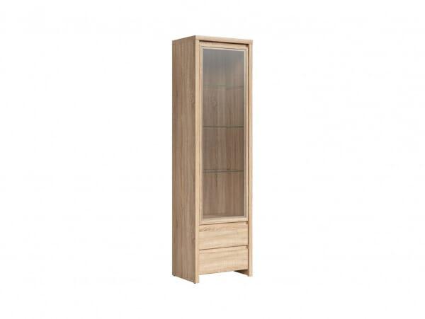 Висок шкаф витрина Каспиан Дъб