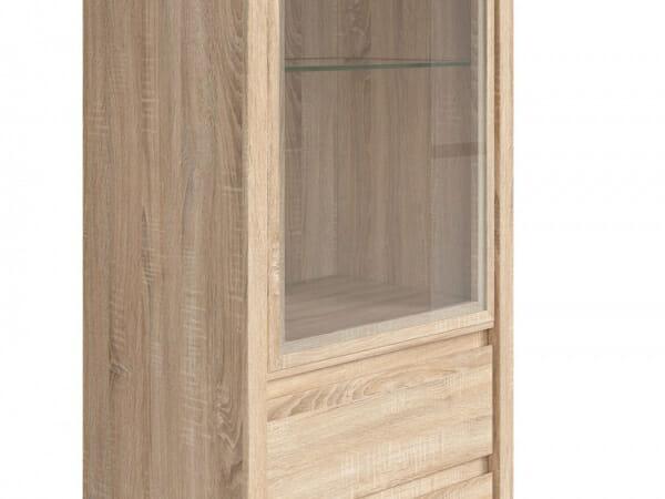 Висок шкаф витрина Каспиан Дъб сонома - детайл