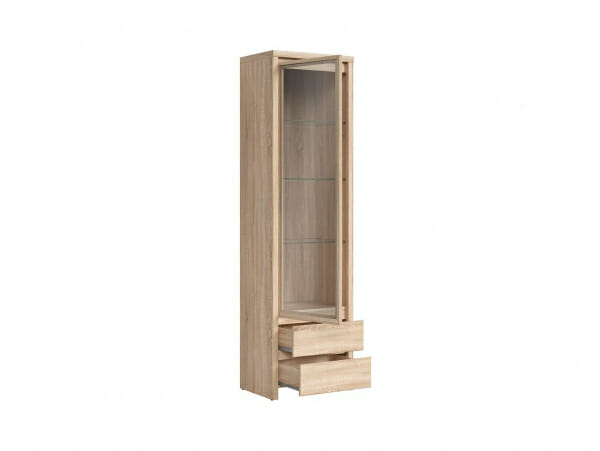 Висок шкаф витрина Каспиан Дъб сонома - разпределение
