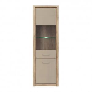Висок шкаф витрина с LED осветление Коен