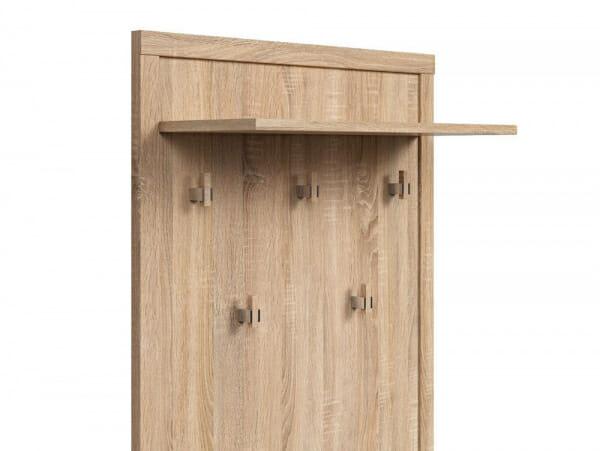 Закачалка за антре в дървесен цвят Каспиан Дъб - детайл