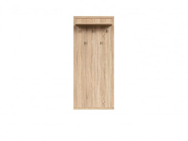 Закачалка за антре в дървесен цвят Каспиан Дъб - oтпред
