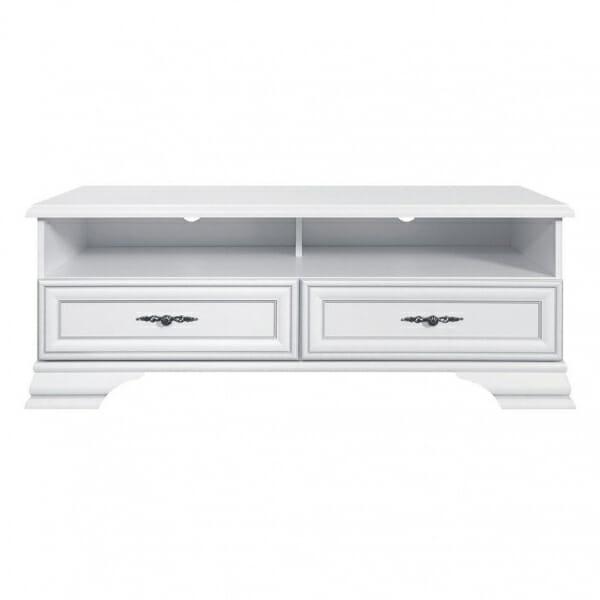 Бял ТВ шкаф в класически стил Иденто