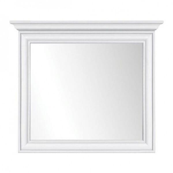 Бяло правоъгълно огледало с класическа визия Иденто