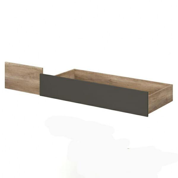 Чекмедже в дървесен цвят за легло Малкълм