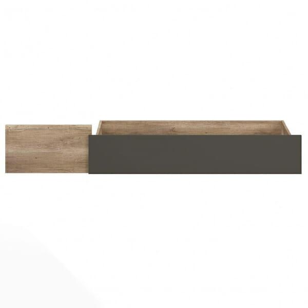 Чекмедже в дървесен цвят за легло Малкълм - отпред