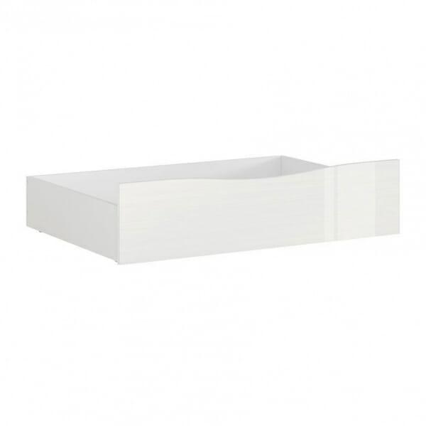 Чекмедже за легло в бял гланц Пори
