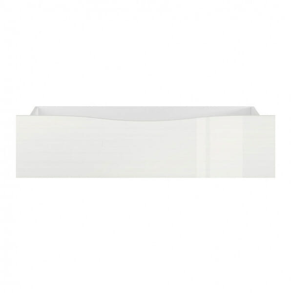 Чекмедже за легло в бял гланц Пори - отпред