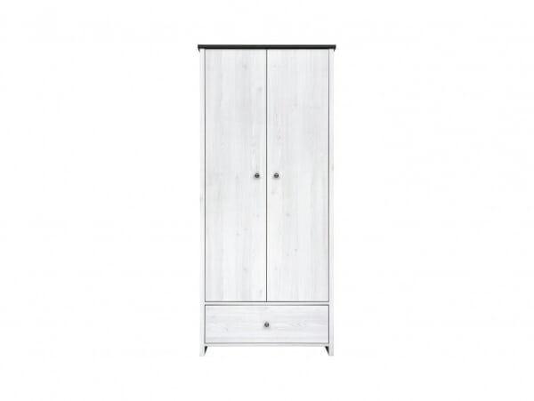 Двукрилен гардероб с чекмедже Порто - отпред