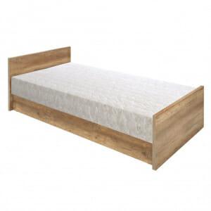 Единично легло в дървесен цвят Малкълм
