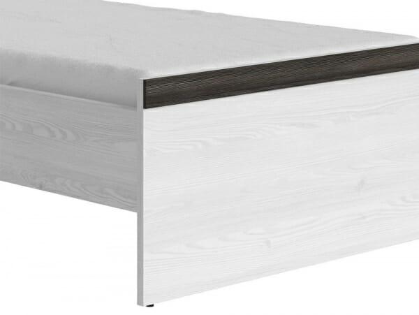 Единично легло в дървесни тонове Порто - детайл долна част