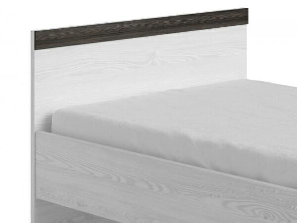 Единично легло в дървесни тонове Порто - детайл табла