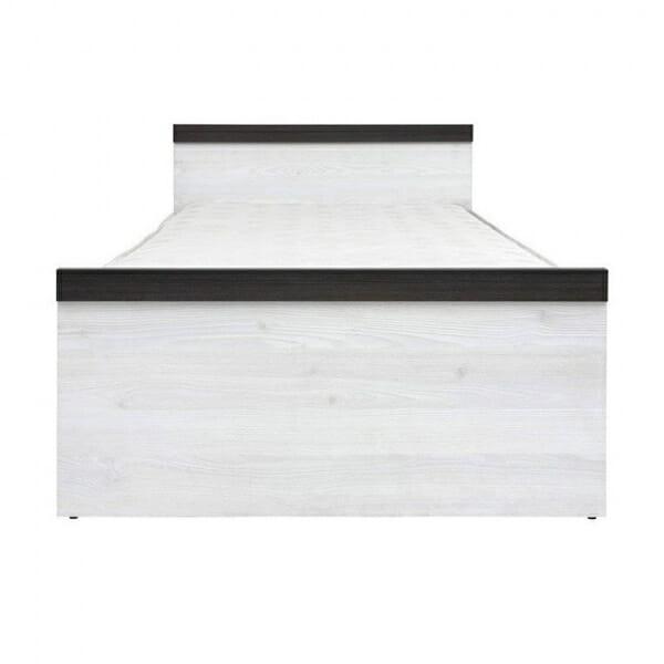 Единично легло в дървесни тонове Порто - отпред