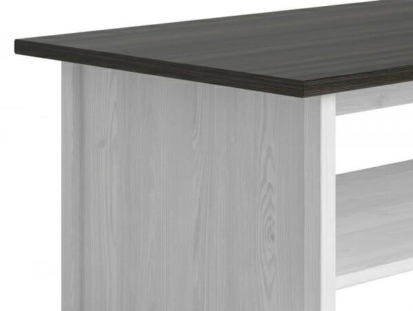 Холна маса в бял и тъмен дървесен цвят Порто - детайл