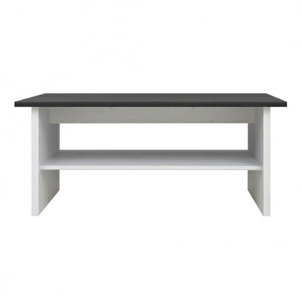 Холна маса в бял и тъмен дървесен цвят Порто - отпред