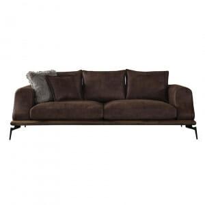 Кафяв диван с метални крака Kira-размер 1