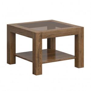 Квадратна холна маса със стъклен плот Када