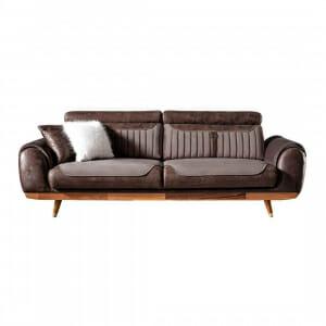 Луксозен триместен диван с красиви детайли Rino III