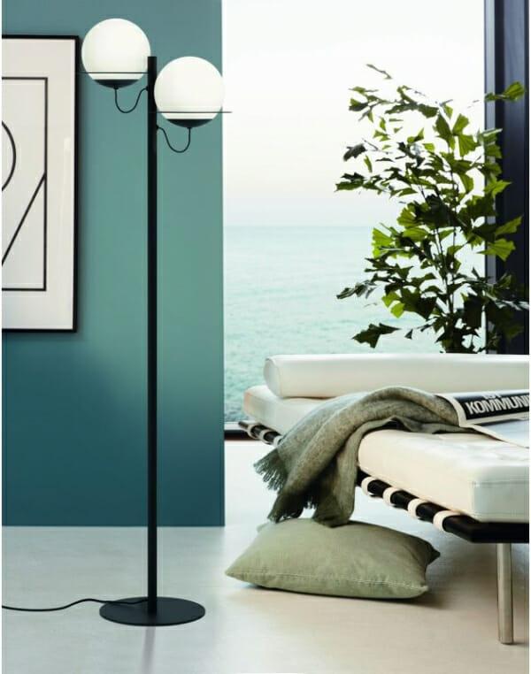 Метален лампион в бяло и черно Eglo серия Sabalete - интериор