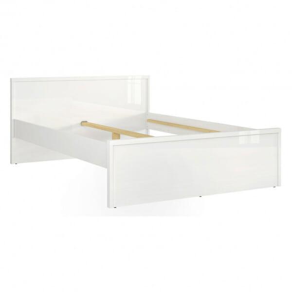 Модерно двойно легло в бял гланц Пори - размер 1