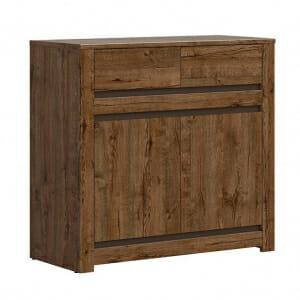 Нисък шкаф с 2 чекмеджета и 2 вратички Када