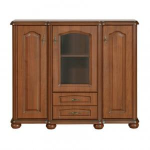Нисък шкаф витрина с класическа визия Наталия