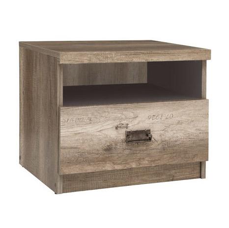Нощно шкафче в тъмен дървесен цвят Малкълм