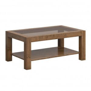 Правоъгълна холна маса със стъклен плот Када