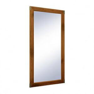 Правоъгълно огледало с метални ъгли Индиана - дъб сутер