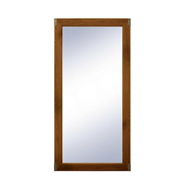 Правоъгълно огледало с метални ъгли Индиана - дъб сутер отпред