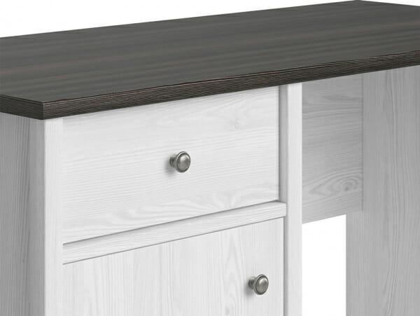 Работно бюро в бял дървесен цвят Порто - детайл