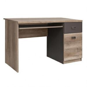 Работно бюро в дървесен цвят и сиво Малкълм