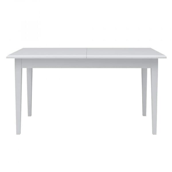 Разтегателна трапезна маса в бяло Иденто - отпред