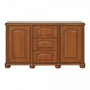 Широк шкаф с 3 чекмеджета и вратички Наталия