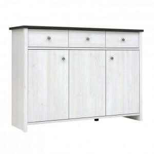 Широк шкаф с 3 чекмеджета и вратички Порто