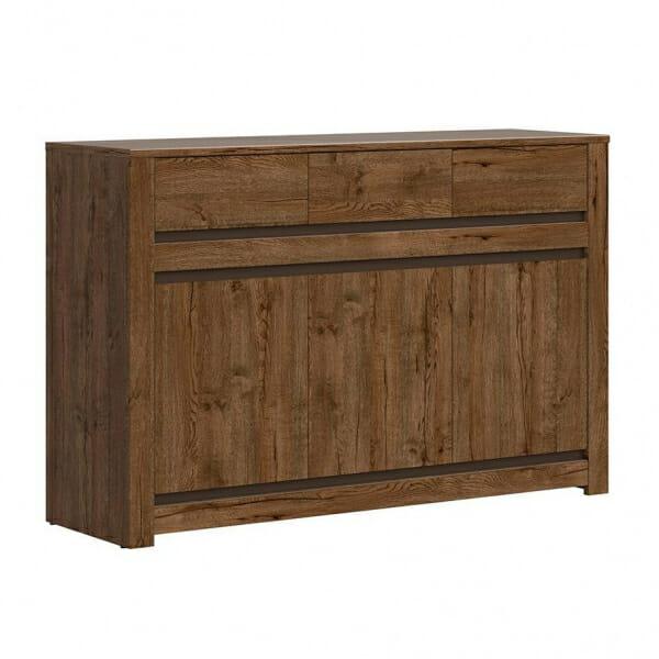Шкаф с 3 чекмеджета и 3 вратички Када