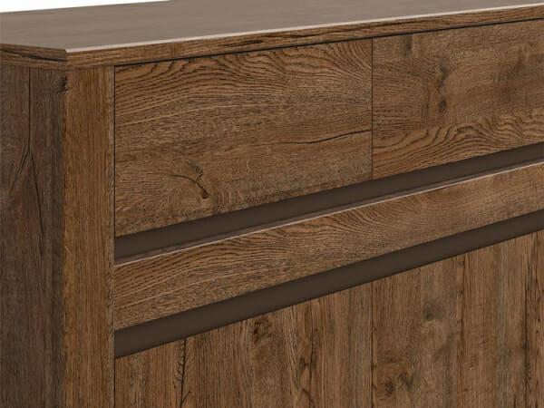 Шкаф с 3 чекмеджета и 3 вратички Када - детайл