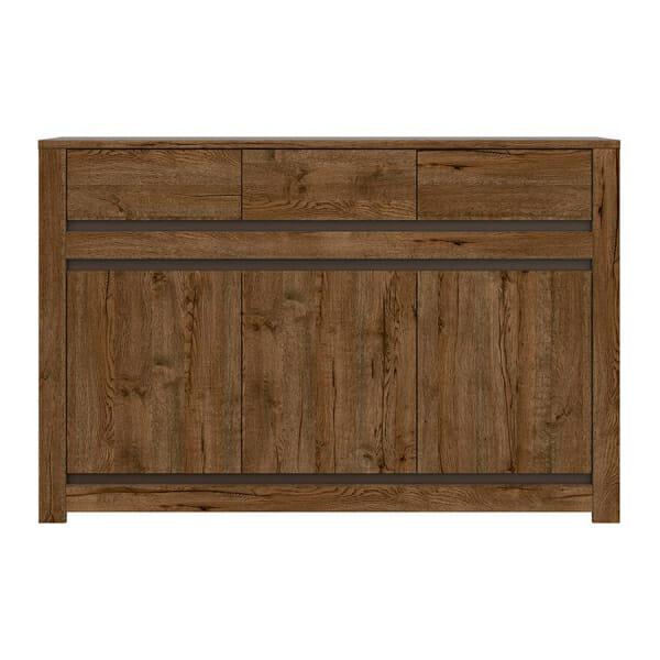 Шкаф с 3 чекмеджета и 3 вратички Када - отпред